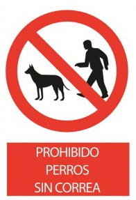Dogs without leashes prohibited.